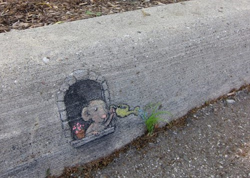 Street Art chalk art hacked irl - 8151031808