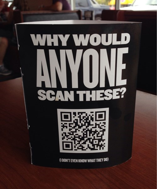 QR code advertisement jimmy johns