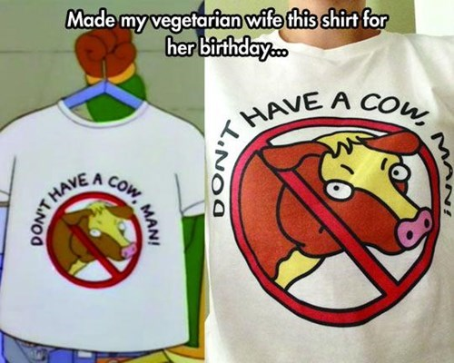 poorly dressed t shirts vegetarian the simpsons - 8152030976