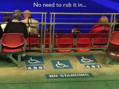 handicapped,wheelchairs,no standing