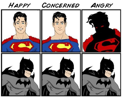 batman,emotions,superman
