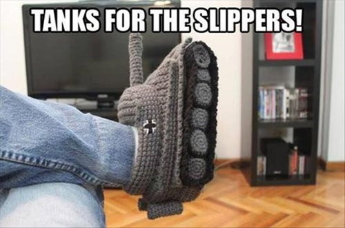 crochet poorly dressed puns tank slippers g rated