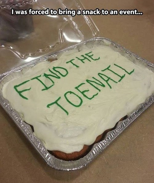 cake toenails snacks - 8152242944