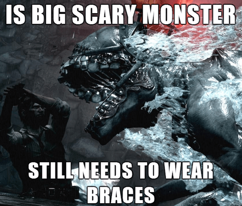 braces,the evil within,bad luck,video games,monster