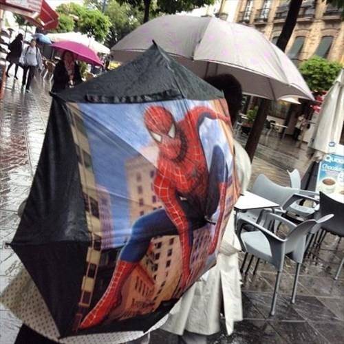 umbrella,Spider-Man,poorly dressed,when you see it,g rated