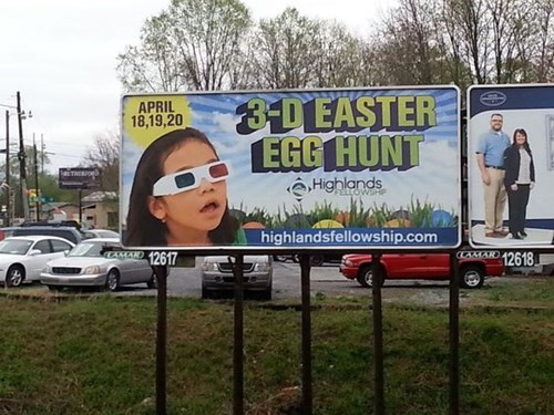 easter,easter egg hunt,billboard,3d,kids,easter eggs,parenting,g rated