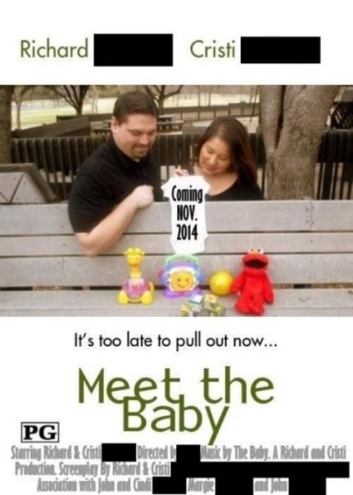 baby movie poster parody parenting pregnant announcement - 8152309760