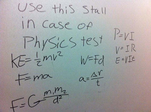 physics bathroom test funny - 8152323328