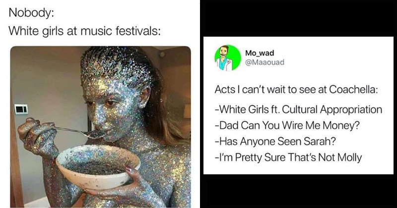 Coachella memes and tweets and funny pictures