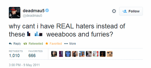Deadmau5 Music twitter haters failbook - 8152384768