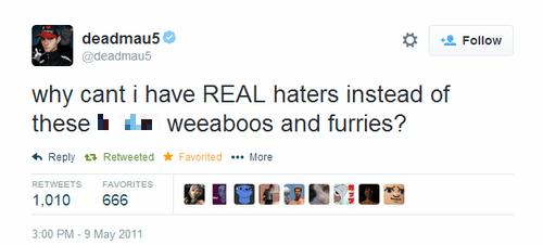 Deadmau5 Music twitter haters failbook - 8152384768