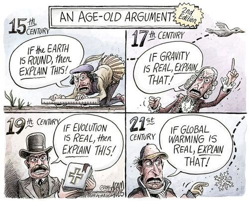 arguments evolution global warming Gravity earth web comics