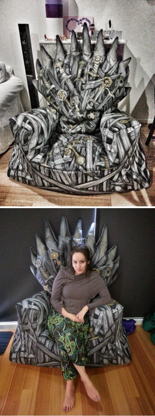 iron throne,DIY,beanbag