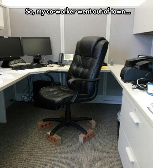 coworkers office pranks