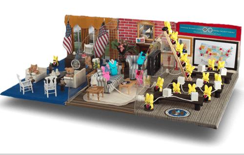 easter,usa,diorama,peeps,potus,politics