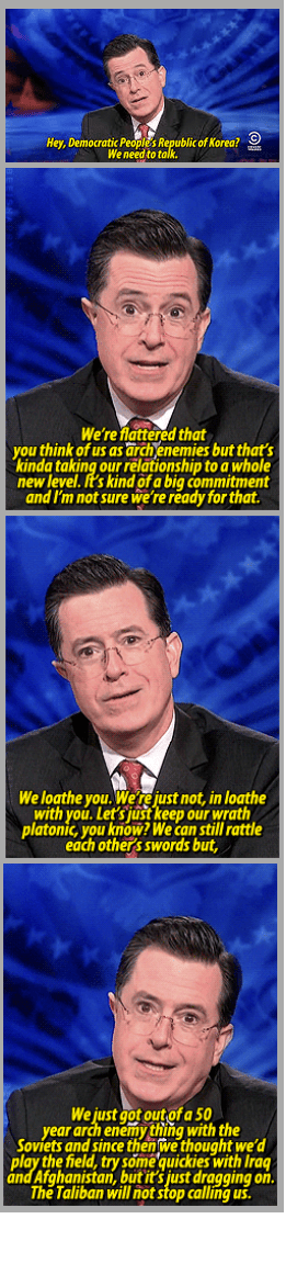 North Korea stephen colbert