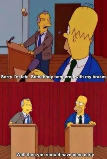 brakes debate funny the simpsons - 8154140160