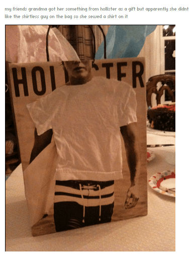 kids,gift,grandma,shirtless,hollister,parenting