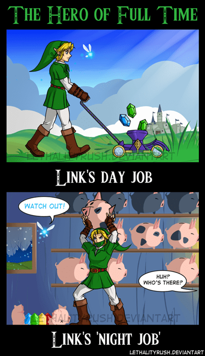 link,zelda,video game logic