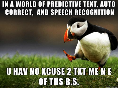 texting,unpopular opinion puffin