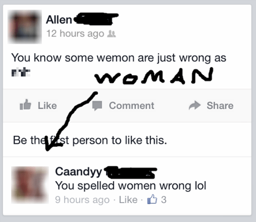 men vs women spelling whoops - 8156912128