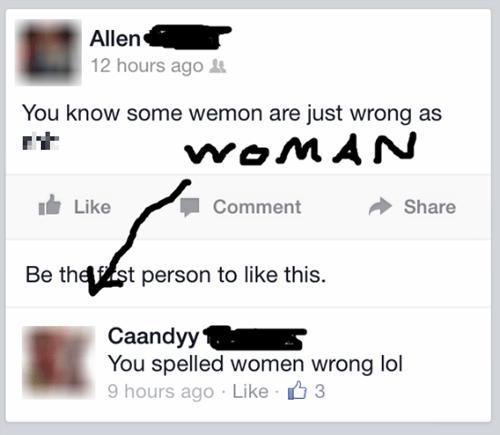 men vs women spelling whoops - 8156912128
