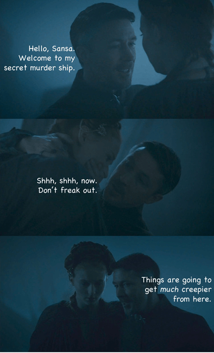 Game of Thrones season 4 sansa stark petyr baelish - 8157366272