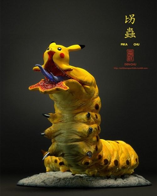 sculpture pikachu worms - 8157472768