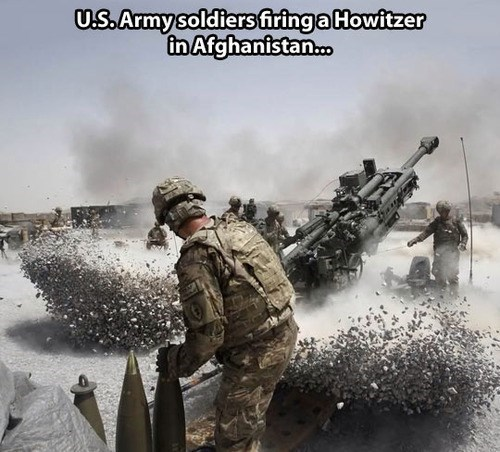 afghanistan soldiers US Army howitzers - 8157626368