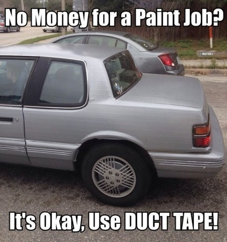 cars,duct tape,paint jobs
