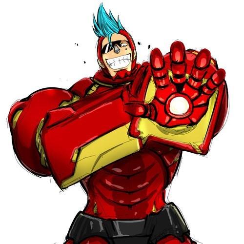 anime Fan Art iron man one piece - 8158010880