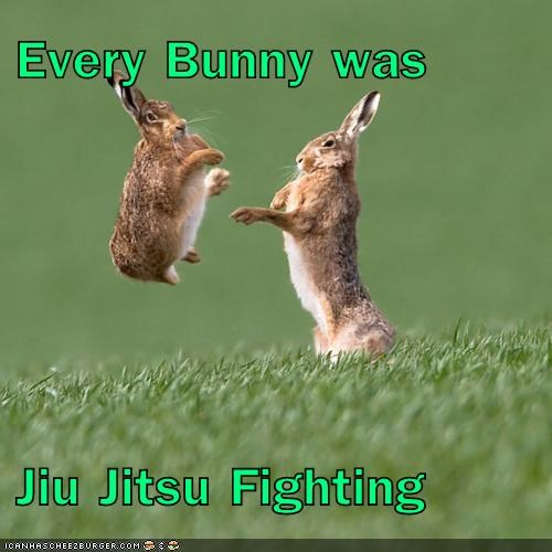 Every Bunny was  Jiu Jitsu Fighting