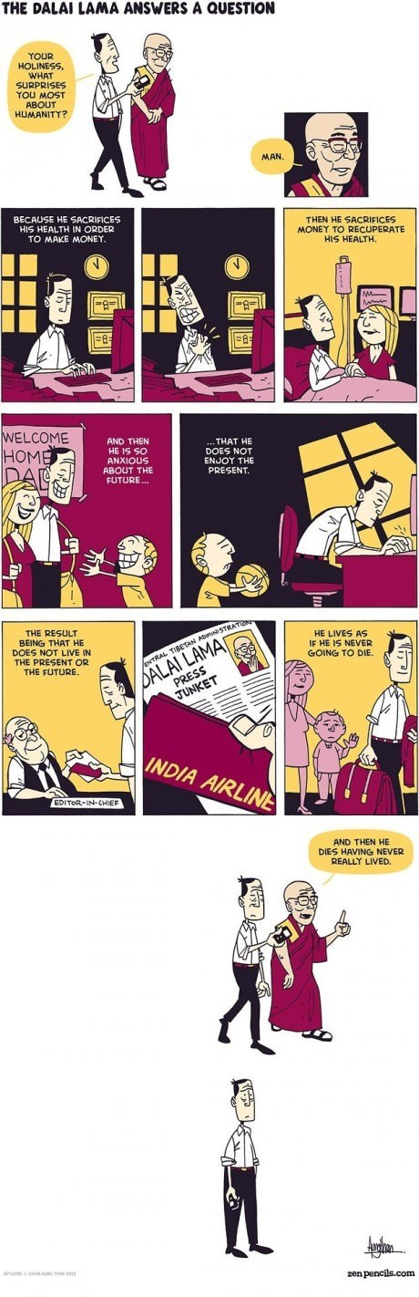Dalai Lama,sad but true,surprise,advice,web comics