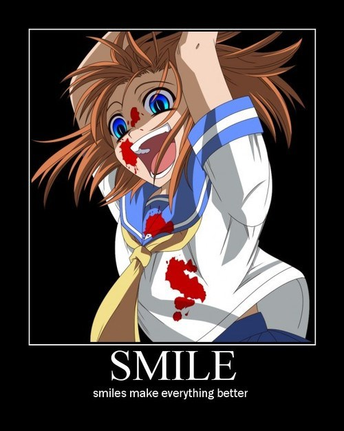 anime creepy funny smile - 8158188544