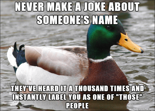 Actual Advice Mallard,names