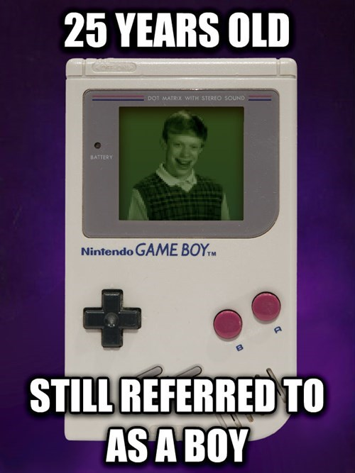 game boy,video games,bad luck brian,Memes