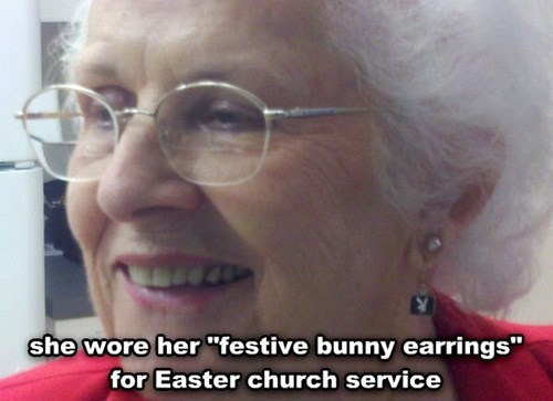 earrings,easter,bunny,poorly dressed