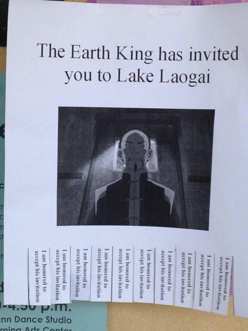 One Does Not Simply Refuse an Invitation to Lake Laogai