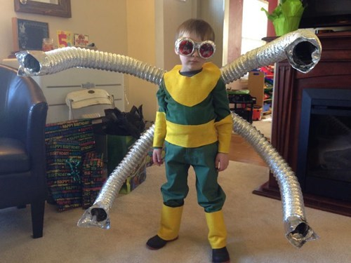cosplay,kids,doc ock,Spider-Man