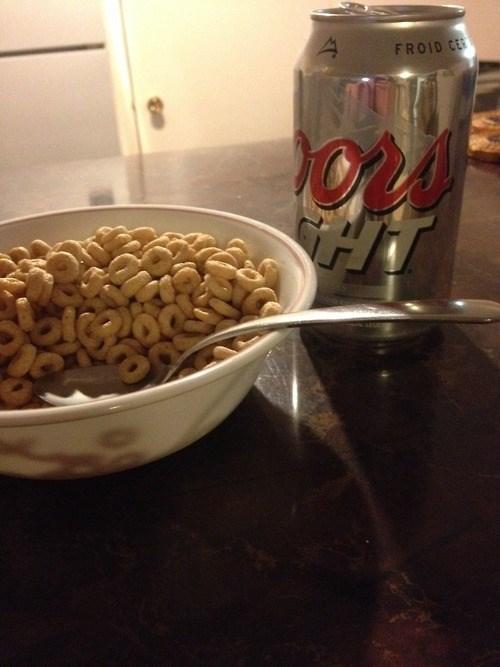 beer bad idea breakfast cheerios funny - 8158405632