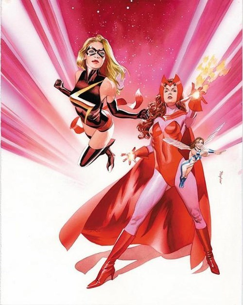 captain marvel marvel scarlet witch wasp - 8158434560
