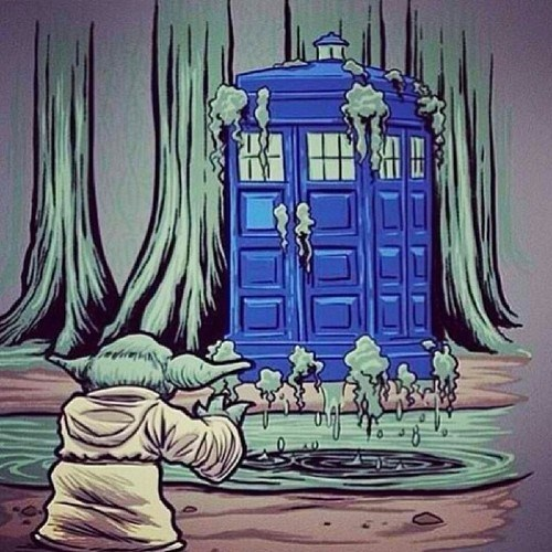 Fan Art,tardis,yoda