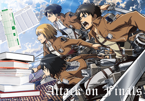 school finals anime attack on titan exams - 8158718464