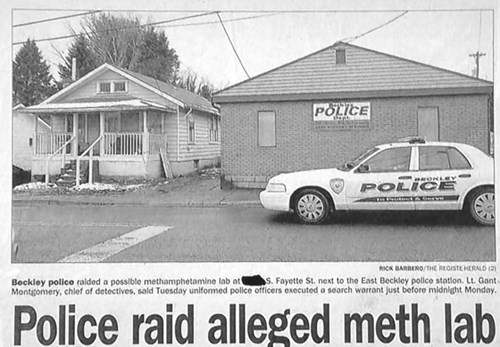 drugs irony newspaper police - 8158772480