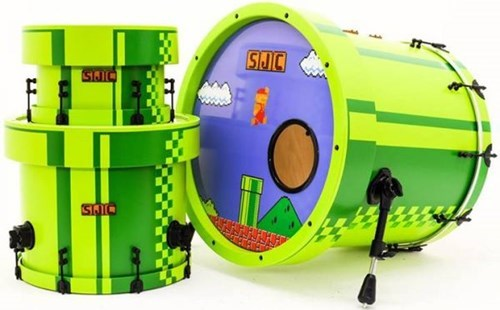 custom nintendo drums mario - 8158779648