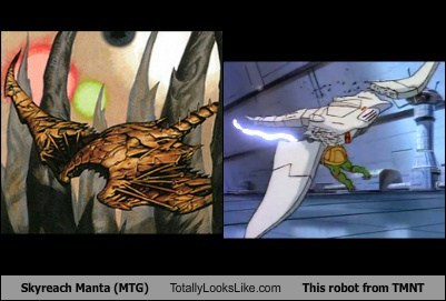 Skyreach Manta (MTG) Totally Looks Like This robot from TMNT