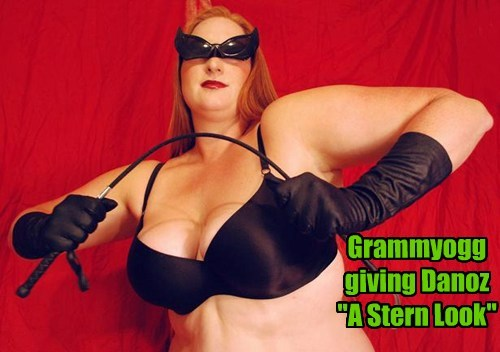 "Grammyogg giving Danoz ""A Stern Look"""
