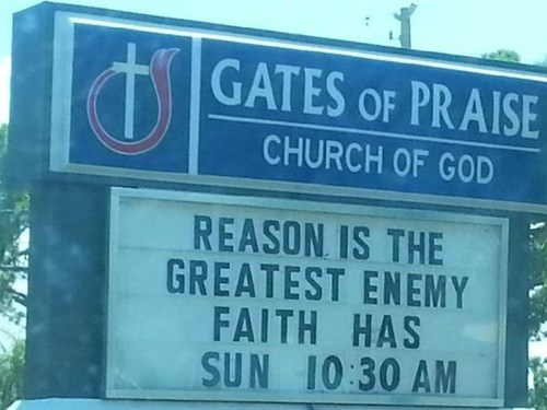 church church signs faith reason