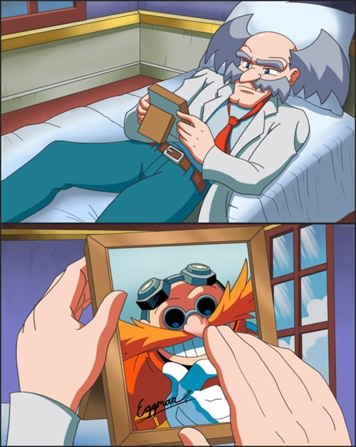 dr-wily eggman mega man sonic - 8159601408