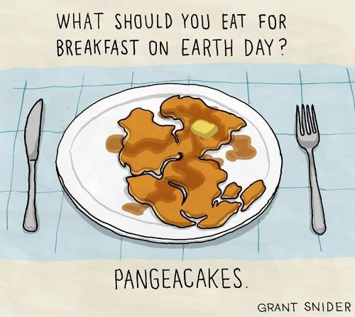 breakfast Earth Day pangea pancakes funny - 8159660544